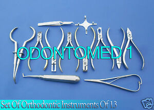 Set Of Orthodontic Instruments Of 13 Pieces Stainless With Boone Gauge Dn 488
