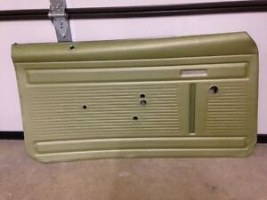 69 Chevy Nova Ss Chevy Ii Green Nos Original Gm Driver Front Door Panel Assembly