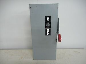 Ge Th3223 100 Amp 240v Indoor Fusible Disconnect 1ph Safety Switch