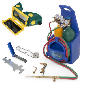 Portable Twin Tote Oxygen Acetylene Tank Style Welding Cutting Torch Start Kit