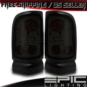 1994 2002 Dodge Ram 1500 2500 3500 Sport Performance Tail Lights Chrome Smoke