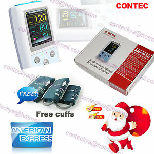 Fda Contec Ambulatory Blood Pressure Monitor usb Software 24h Nibp Holter Abpm50