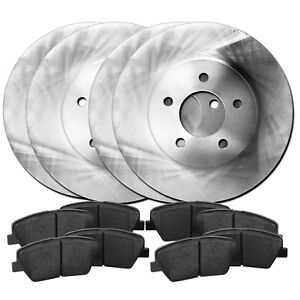 Fits 1988 1993 Toyota Celica Front Rear Blank Brake Rotors Ceramic Pads
