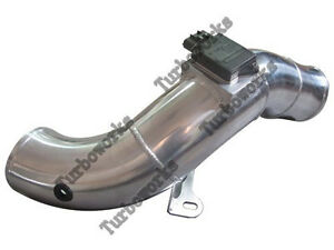 4 Aluminum Turbo Cold Air Intake Pipe For 03 07 Ford 6 0 Diesel Black Hose