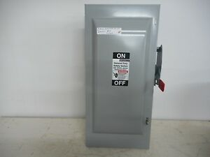 Murray 100 Amp 240v 1ph Fusible Indoor Disconnect Safety Switch