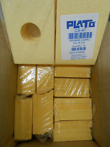 New Plato Cs 47 Solder Tip Cleaning Sponge With Center Hole 10 Packs Of 10