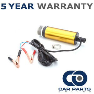 12v Fuel Water Diesel Transfer Pump Filter Submersible Portable Clip On Battery