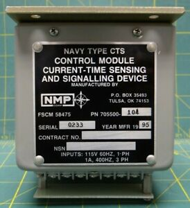 Nmp Control Module Current time Sensing And Signalling Device Pn 705500 104
