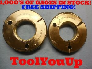 2 11 1 2 Npsm 2a Go No Go Thread Ring Gage 2 000 P d s 2 2944