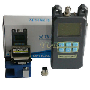 Fiber Optical Power Meter Tester And Fiber Cleaver Replace Fc 6s Cleaver Cutter