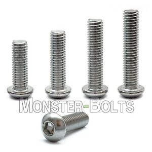 M3 Stainless Steel Button Head Socket Cap Screws A2 Metric Iso 7380 0 50 Coarse