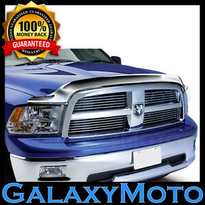 09 16 Dodge Ram 1500 Truck Triple Chrome Hood Shield Guard Bug Air Deflector