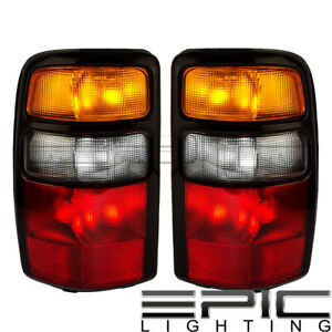 Left Right Side Pair Tail Lamps For 2004 2006 Chevy Suburban Tahoe Gmc Yukon