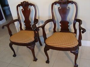 Henkel Harris Philadelphia Arm Chairs Solid Mahogany 103a