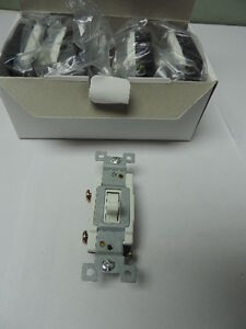 Lot Of 20 White Heavy Duty Commercial Toggle Wall Light Switch 20a 120 277
