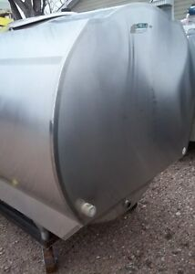 Mueller 600 Mv43046 Stainless Steel Bulk Milk Cooling Farm Tank Self Contained