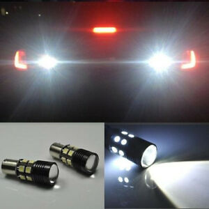 2x Error Free Led Reverse Backup Light Projector Bulb For Vw Jetta Mk6 2010 2014