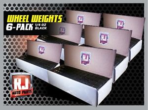 6 Boxes Black Wheel Weights 1 4 Oz Stick On Adhesive Tape 864 OZ. 3456 Pieces $119.95