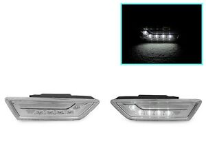 White Led Clear Side Marker Lights For 2012 14 Mercedes Benz W218 Cls 550 Class