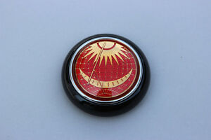 Vw Type 12 Bug Bus Petri Red Sun Moon Steering Wheel Horn Button Black Base