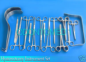 Hysterectomy Surgical Instrument Set Ds 673