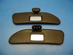 96 02 Bmw Z3 Oem Sun Visors Shades X2 Stock Factory Black Roadster