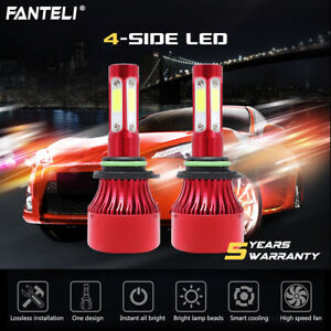 1800w 270000lm 4 Sided Led 9006 Headlight Kit Low Beam Bulbs 6000k High Power