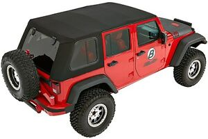 Bestop 54853 17 Trektop Pro Hybrid Soft Top For Jeep Wrangler Jk U 2007 2017
