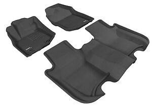 3d All Weather Floor Mat Floorliner Chevy Silverado Crew Cab 2014 18 Black Kagu