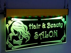 H001 Animated Hair Beauty Salon Led Open Sign Neon Spa Nails Store Shop Display