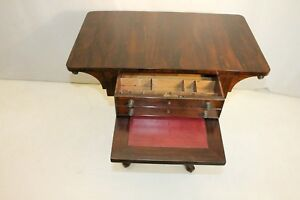 Exquisite Antique Regency Style Rosewood Writing Table 19th C