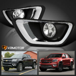 2015 2017 Chevy Colorado Clear Bumper Lights Driving Fog Lamps h3 Bulb
