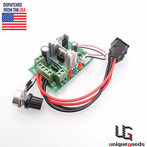 6v 12v 24v Pwm Dc Motor Speed Controller Reversible Switch Adjustable Governor