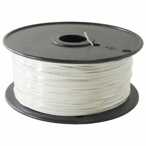 Hook Up Wire 22 Gauge Solid 1000 White