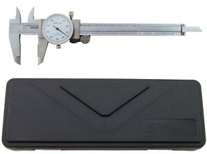 6 Utility Dial Caliper 0 001 Resolution With Slide Lock Includes Case