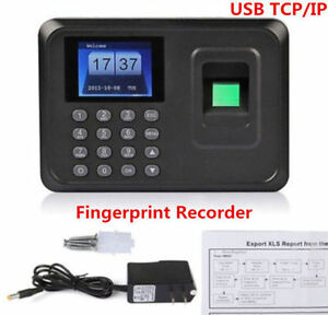 Biometric Fingerprint Attendance Time Clock Employee Payroll Recorder Tcp ip usb