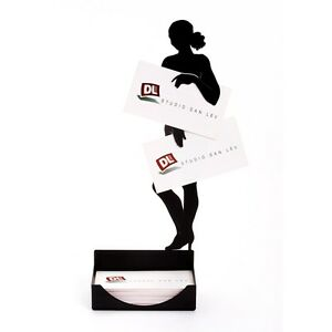 Business Card Holders Desk Boss Gifts Black Elgant Metal Stand Dispaly Women