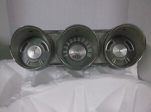 True Vintage 1962 Ford Fairlane 500 Chrome Metal Instrument Cluster