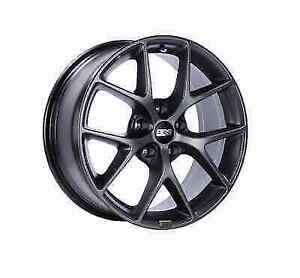Bbs Sr016sg Satin Grey 18x8 5x112 Bolt Circle 45mm Offset One Piece Cast Wheel