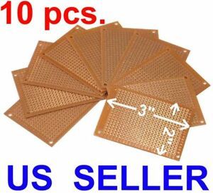 10 Pcs 2 X 3 5x7cm Diy Pcb Prototyping Perf Circuit Boards Breadboard Kit