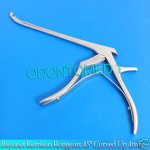 Bayonet Kerrison Rongeurs 45 Curved Up 4mm Surgical Instruments
