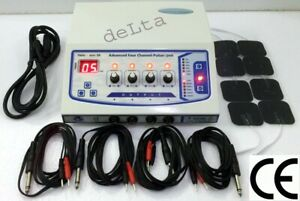 New Professional Home Use 4 Channel Electrotherapy Machine Pulser Massager Ujfh