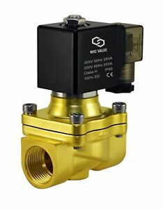 Electric Air Water Zero Differential Solenoid Process Valve 3 4 Inch 220v Ac