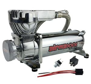 Air Bag Suspension Compressor 580 Chrome 180psi Off Pressure Switch