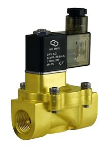 3 8 Inch Brass Electric Air Water Solenoid Valve Low Power Consumption 24v Ac