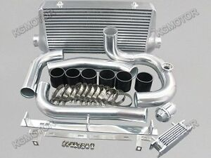 For Toyota Supra Mk4 2jz Gte Intercooler Kit 93 02 Bov Black