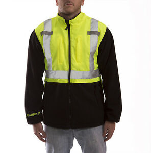 Tingley J73022 Phase 2 Ansi Class 2 Hi viz Fleece Jacket m 3xl