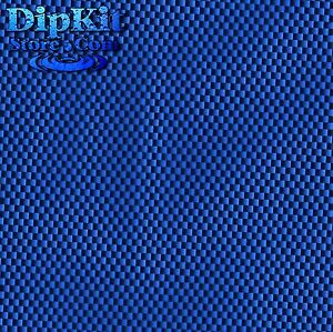 Hydro Dipping Film Hydrographics Black Carbon Fiber Shown Over Blue Base Cf152