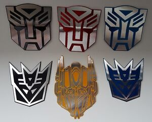 New Autobots Decepticons Logo Symbol Transformers 3d Car Decal Sticker Emblem