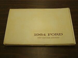 Oem Ford Dealers 1964 Color Trim Book Galaxie Fairlane Falcon Thunderbird